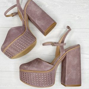 Free People | Lavender Purple Platform Heels Sz.37